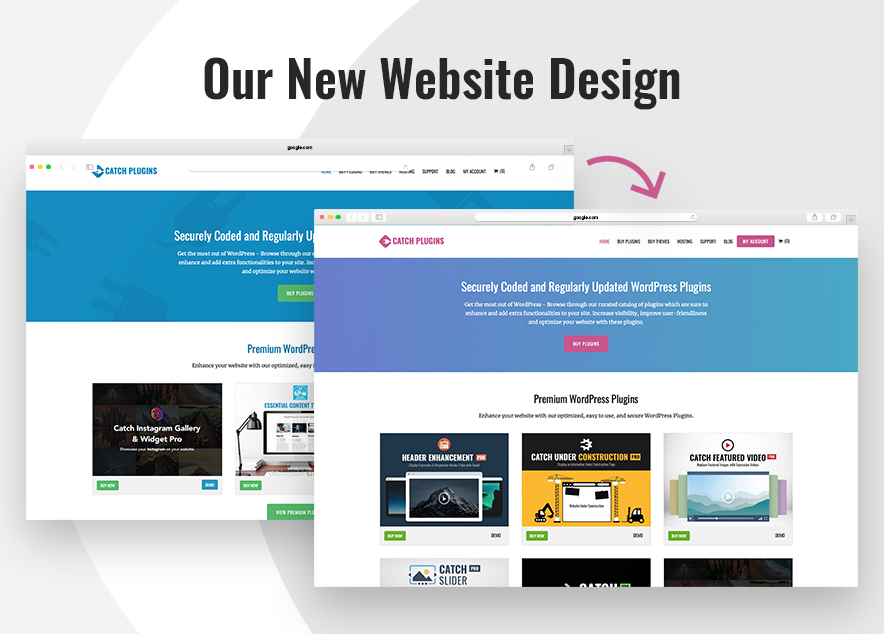 Our New Website Design