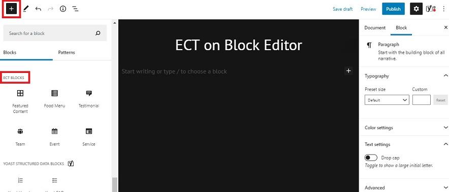 ECT Blocks