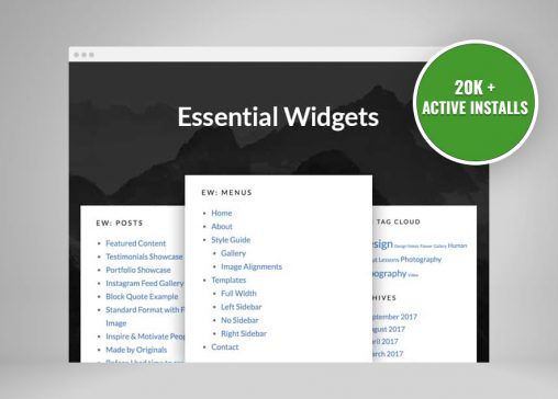 Essential Widgets Plugin Crossed 20K Active Installs