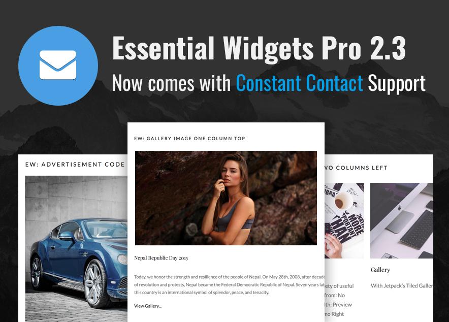 Essential Widgets Pro 2.3 Update