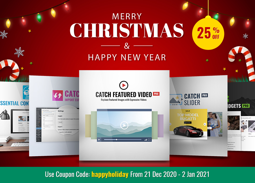 Christmas 2020 and New Year 2021 from Catch plugins