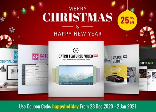 Christmas 2020 and New year 2021 deals catch Plugins