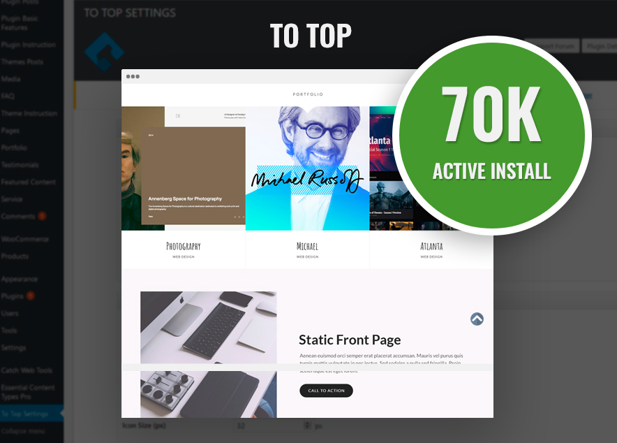 New Milestone Our To Top Plugin Crossed 70K Active Installs on WordPress.org